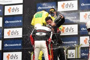 Podium: #32 Team WRT Audi R8 LMS: Charles Weerts, Dries Vanthoor