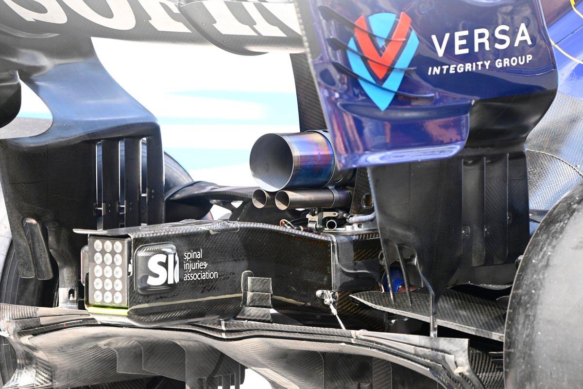 Detalle de la parte trasera del Williams FW43B