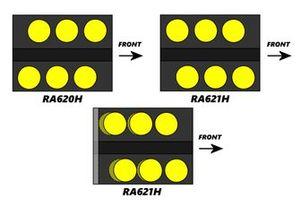 Distanza tra i cilindri della Honda RA620H vs RA621H