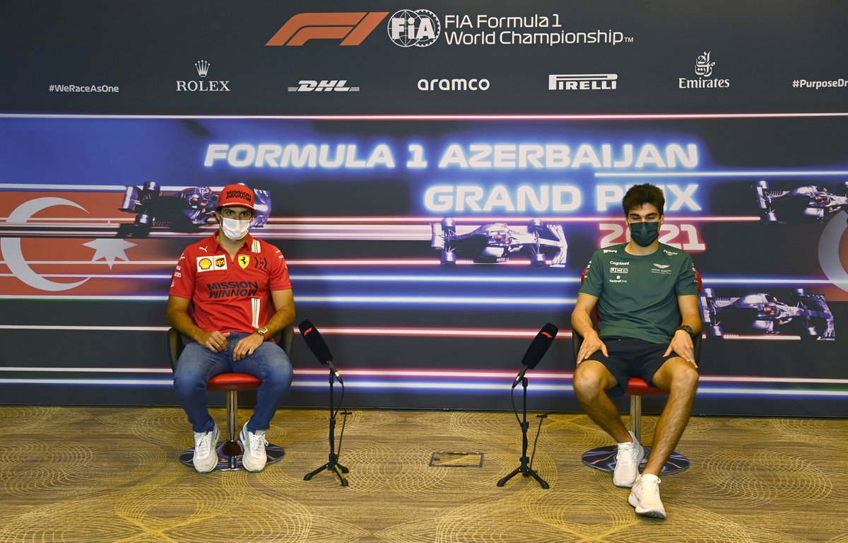 Carlos Sainz Jr., Ferrari y Lance Stroll, Aston Martin