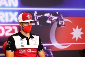 Antonio Giovinazzi, Alfa Romeo Racing at press conference