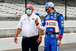 Graham Rahal, Rahal Letterman Lanigan Racing Honda, mit Vater Bobby Rahal