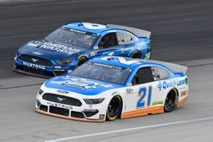 Matt DiBenedetto, Wood Brothers Racing, Ford Mustang Quick Lane Tire & Auto Center, Ryan Newman, Roush Fenway Racing, Ford Mustang Wyndham Rewards
