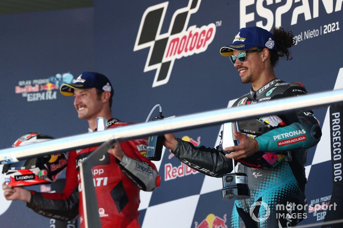 Podio: tercer lugar Franco Morbidelli, Petronas Yamaha SRT