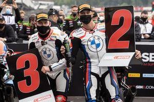 Terzo e secondo classificato in Super pole per Tom Sykes, BMW Motorrad WorldSBK Team, Michael van der Mark, BMW Motorrad WorldSBK