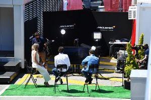 Media in the paddock