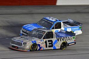 #13: Johnny Sauter, ThorSport Racing, Toyota Tundra Vivitar/RealTree, #24: Ryan Reed, GMS Racing, Chevrolet Silverado Tandem Diabetes Care