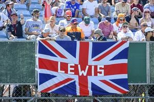 Fans show their support from the grandstands