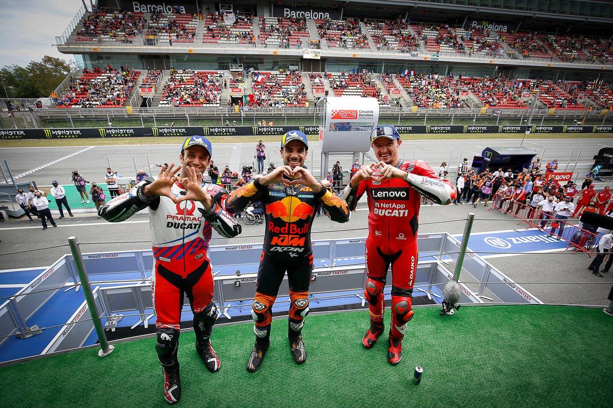 Podio: 1º Miguel Oliveira, Red Bull KTM Factory Racing; 2º Johann Zarco, Pramac Racing; 3º Jack Miller, Ducati Team