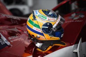 The helmet of Sergio Sette Camara, Dragon Penske Autosport