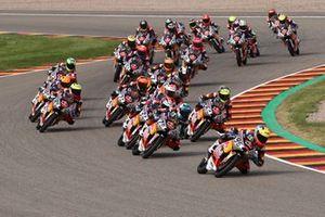 Aksi para pembalap di Race 1 Red Bull MotoGP Rookies Cup Jerman 2021