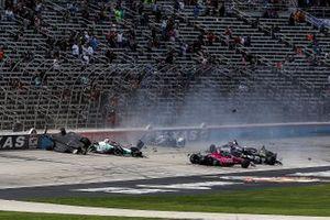 Crash bij de start van de race