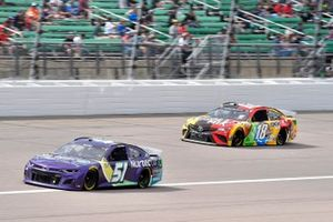 Cody Ware, Petty Ware Racing, Chevrolet Camaro NURTEC ODT and Kyle Busch, Joe Gibbs Racing, Toyota Camry M&M's Mix