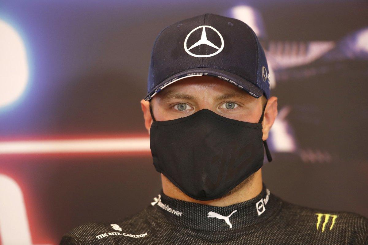 Valtteri Bottas, Mercedes, en la rueda de prensa posterior a la clasificación