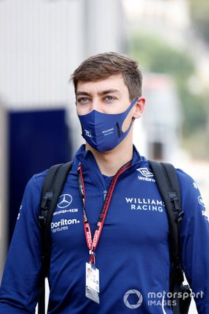 George Russell, Williams arriving at Monaco