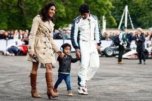 Karun Chandhok, Sky TV with his family