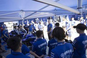Yamaha R3 cup riders, paddock