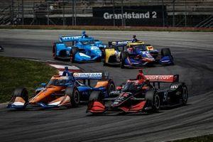 Scott Dixon, Chip Ganassi Racing Honda, Will Power, Team Penske Chevrole