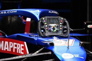 Alpine A521 steering wheel