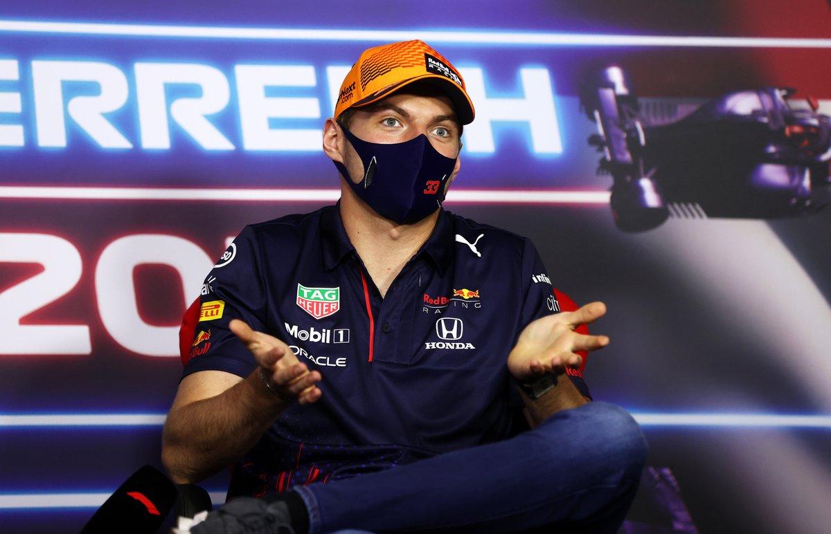 Max Verstappen, Red Bull Racing durante la conferencia de prensa