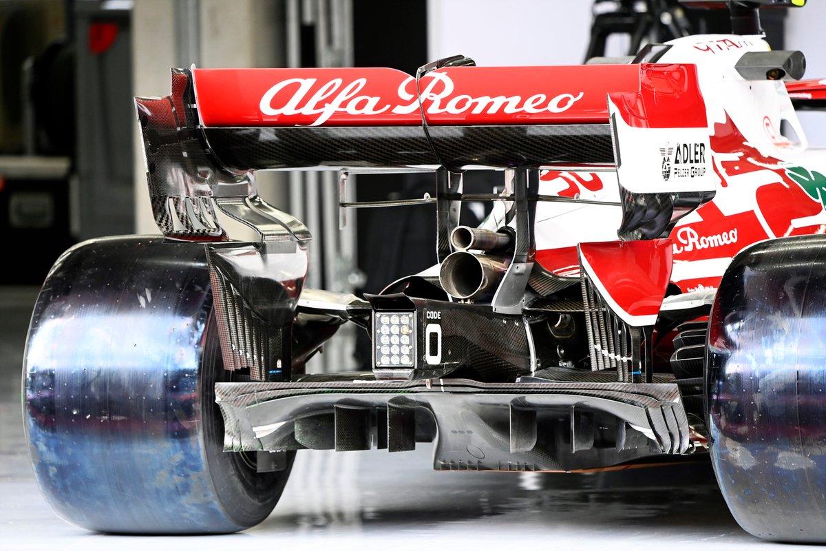 Detalle de la parte trasera del Alfa Romeo Racing C41