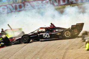 Ed Jones, Dale Coyne Racing with Vasser Sullivan HondaWill Power, Team Penske Chevrolet