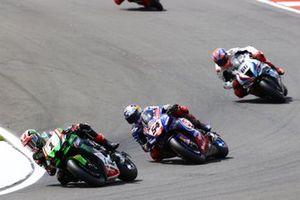 Jonathan Rea, Kawasaki Racing Team WorldSBK, Toprak Razgatlioglu, PATA Yamaha WorldSBK Team, Tom Sykes, BMW Motorrad WorldSBK Team