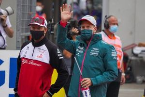 Kimi Raikkonen, Alfa Romeo Racing, Sebastian Vettel, Aston Martin