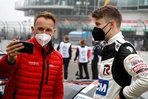 #29 Audi Sport Team Land Audi R8 LMS GT3: Rene Rast, #110 Teichmann Racing KTM X-BOW GT4: Felix von der Laden