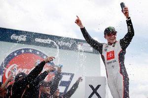 Race winner Ty Gibbs, Joe Gibbs Racing, Toyota Supra