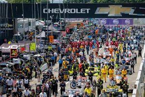 Parrilla previa a la carrera, puente Chevrolet