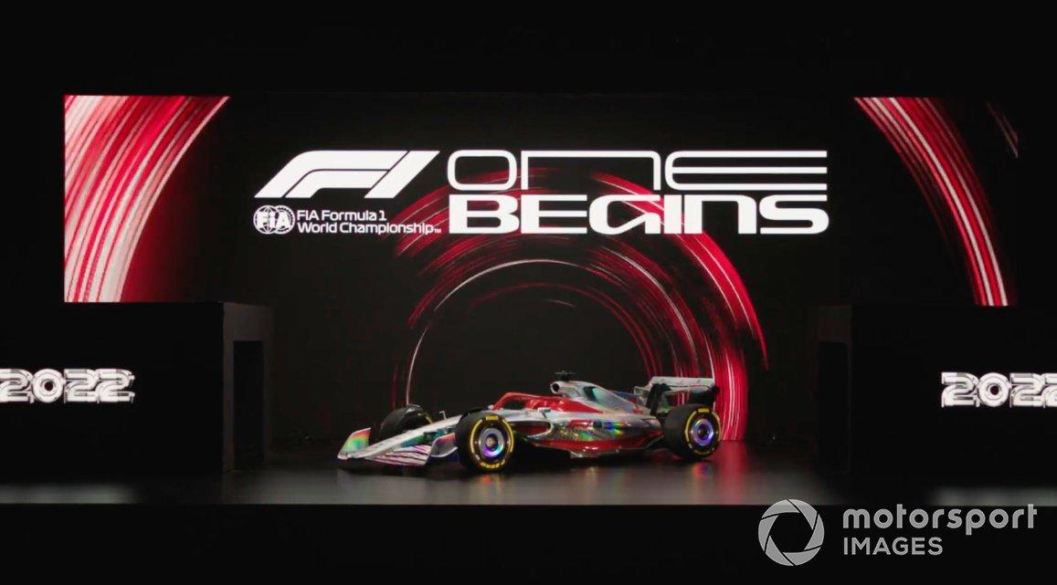 Screenshot della presentazione della F1 2022