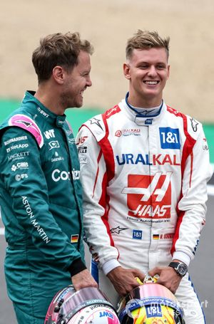 Sebastian Vettel, Aston Martin en Mick Schumacher, Haas F1