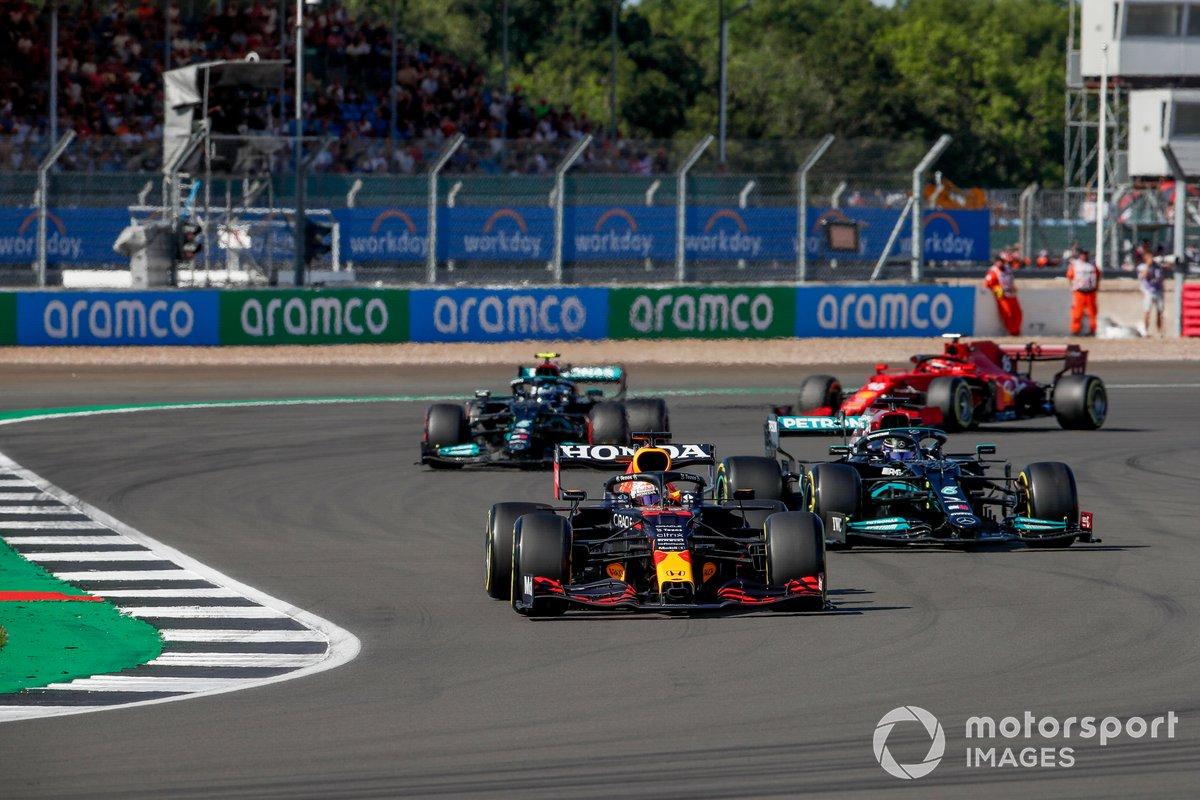Max Verstappen, Red Bull Racing RB16B, Lewis Hamilton, Mercedes W12, Valtteri Bottas, Mercedes W12, Charles Leclerc, Ferrari SF21