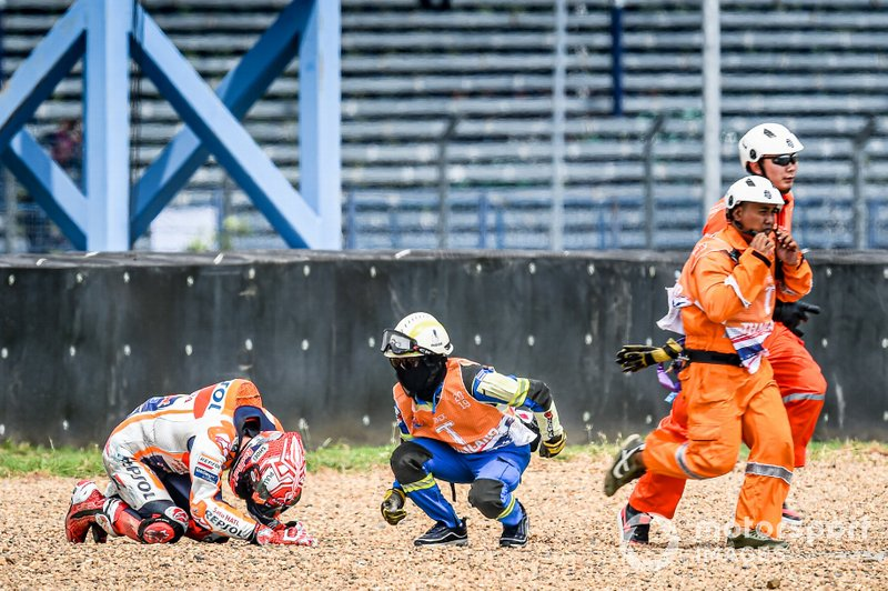 Marc Marquez, Repsol Honda Team, crashes