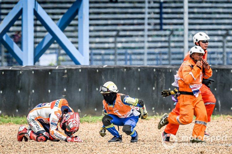 Marc Marquez, Repsol Honda Team, chute
