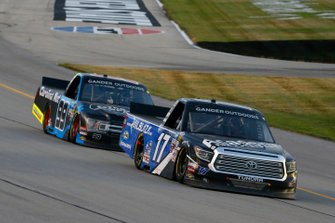 Tyler Ankrum, DGR-Crosley, Toyota Tundra Academy Sports + Outdoors / RAILBLAZA and Ben Rhodes, ThorSport Racing, Ford F-150 Carolina Nut