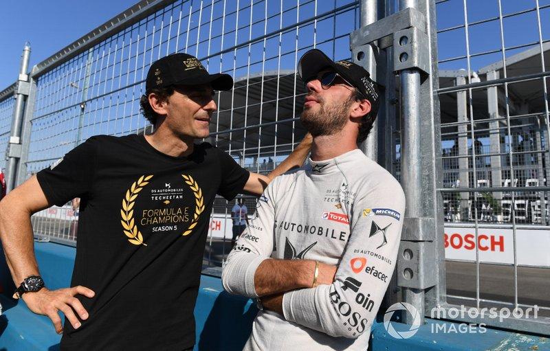 Jean-Eric Vergne, DS TECHEETAH on the grid with Pedro de la Rosa