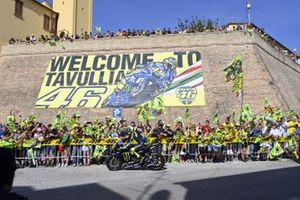 Valentino Rossi, Yamaha Factory Racing on the streets of Tavullia