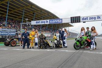 Jack Aitken, Renault F1 Team, Tom Coronel, Robert Doornbos, Leon Haslam, Kawasaki Racing Team, Gamma Racing Day, TT Circuit Assen