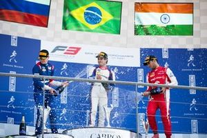 Pedro Piquet, Trident Robert Shwartzman, PREMA Racing and Jehan Daruvala, PREMA Racing