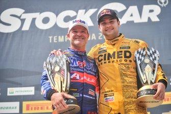 Rubens Barrichello e Felipe Fraga, vencedores da etapa do Velopark