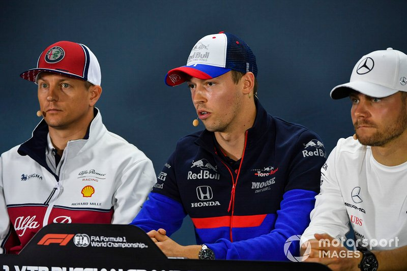 Kimi Raikkonen, Alfa Romeo Racing, Daniil Kvyat, Toro Rosso and Valtteri Bottas, Mercedes AMG F1