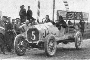 Race winner, Georgy Suvorin, Benz 4 cyl