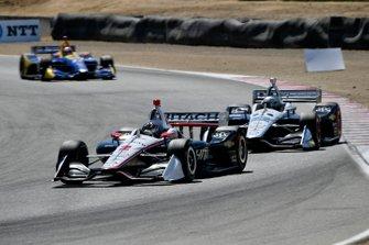 Josef Newgarden, Team Penske Chevrolet, Simon Pagenaud, Team Penske Chevrolet, Alexander Rossi, Andretti Autosport Honda