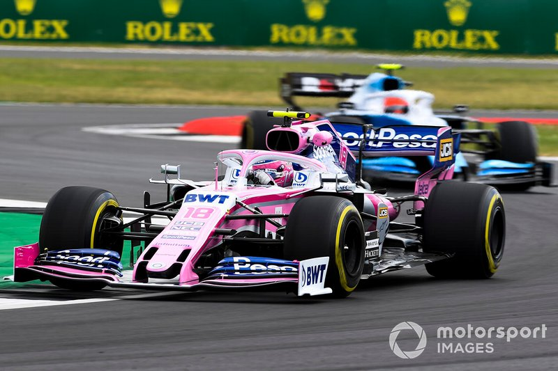 Lance Stroll, Racing Point RP19, devant Robert Kubica, Williams FW42