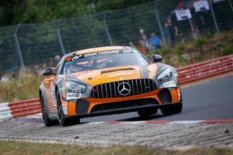 #155 BLACK FALCON Mercedes-AMG GT4: Carlos Rivas, Ace Robey, Tobias Wahl