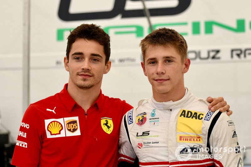 Charles Leclerc, Ferrari, and Sauber Junior Team F4 racer Arthur Leclerc