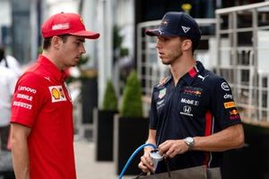 Charles Leclerc, Ferrari and Pierre Gasly, Red Bull Racing