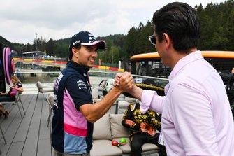 Sergio Perez, Racing Point, and Rodrigo Sanchez